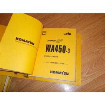 Komatsu WA450-3MC A31001~UP PARTS OPERATION & MAINTENANCE MANUAL WHEEL LOADER
