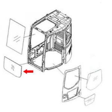 22B-54-15811 Front Lower Glass For Komatsu Excavator PC138USLC-2 PC228US-3