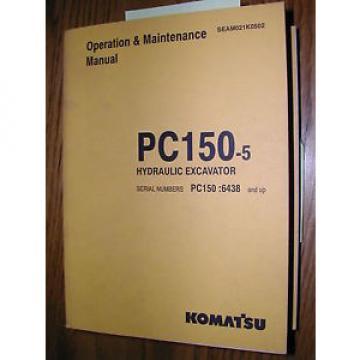 Komatsu PC150-5 OPERATION MAINTENANCE MANUAL EXCAVATOR HYDRAULIC OPERATOR GUIDE