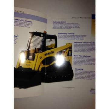 Komatsu CK30-1 Compact Rubber Tracked Loader , Sales Brochure & specifications.