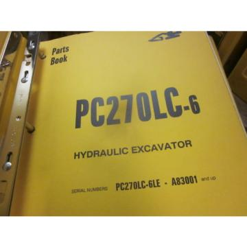 Komatsu PC270LC-6 Hydraulic Excavator Parts Book Manual