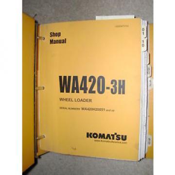 Komatsu WA420-3H SERVICE SHOP REPAIR MANUAL WHEEL LOADER BOOK BINDER VEBM470104