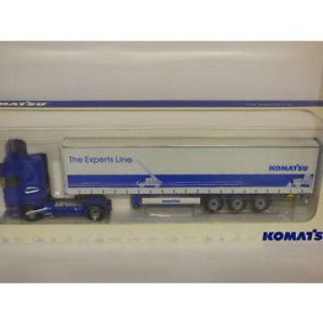 Universal Hobbies Scania R Komatsu - The Experts Line Curtainsider REF 5602