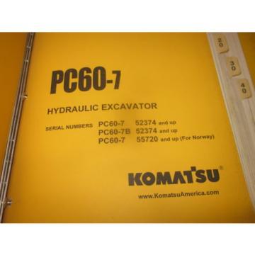 Komatsu PC60-7 Hydraulic Excavator Service Repair Manual