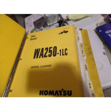 KOMATSU WA250-1LC WHEEL LOADER SHOP MANUAL S/N A65001 & UP