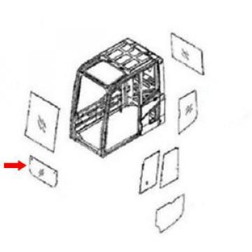 22B-54-16150 Lower Door Glass For Komatsu Excavator PC228USLC-3-KU