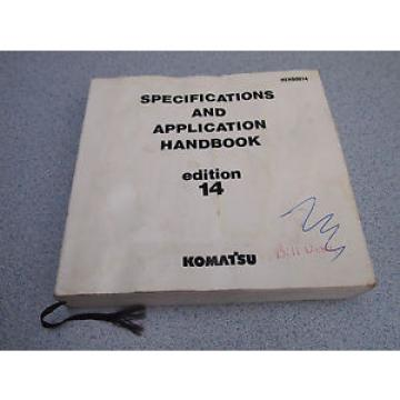 KOMATSU Specification Application HANDBOOK Manual 14th EDITION 1992
