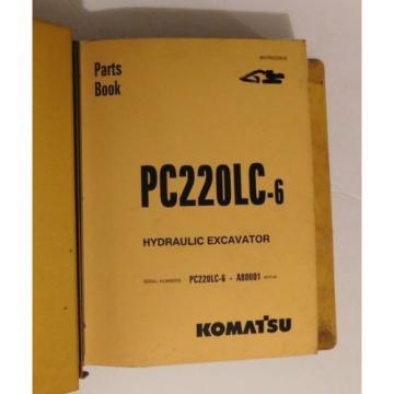 KOMATSU PC220LC-6 Hydraulic Excavator Repair Parts List Catalog Owners Manual