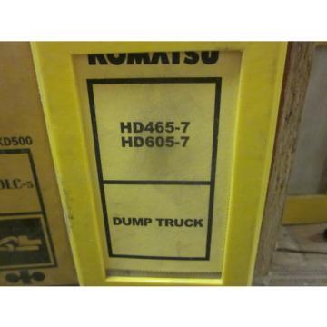 Komatsu HD465-7 HD605-7 Dump Truck Repair Shop Manual