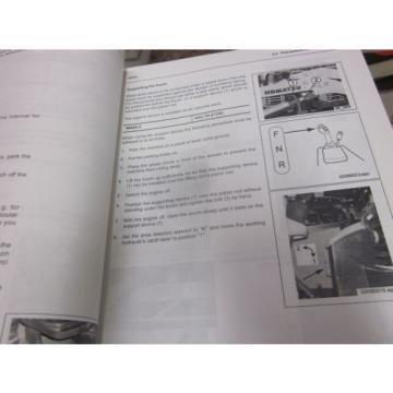 Komatsu WA80-5 Wheel Loader Operation & Maintenance Manual