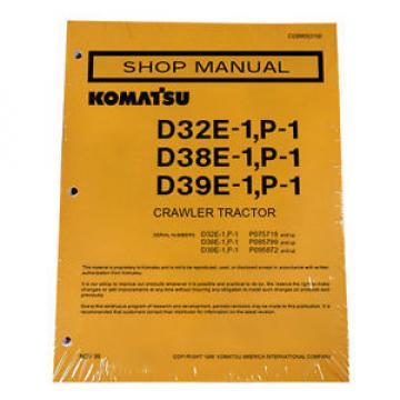 Komatsu D32E-1, D32P-1, D38E-1, D38P-1, D39E-1, D39P-1 Dozer Service Manual