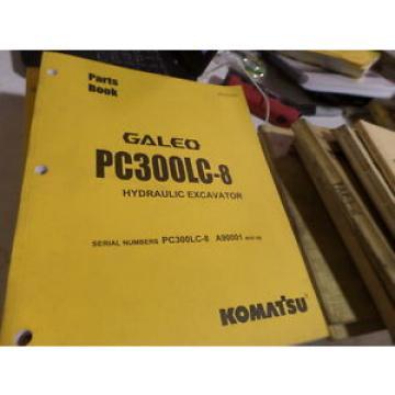 KOMATSU PC300LC-8 HYDRAULIC EXCAVATOR PARTS BOOK / MANUAL S/N A90001 & UP