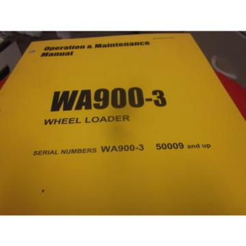 Komatsu WA900-3 Wheel Loader Operation & Maintenance Manual s/n 50009 & Up