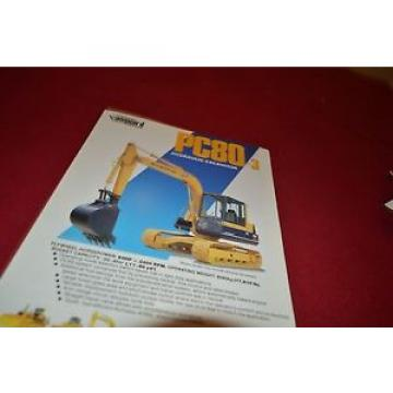 Komatsu PC80 Hydraulic Excavator Dealer's Brochure DCPA4