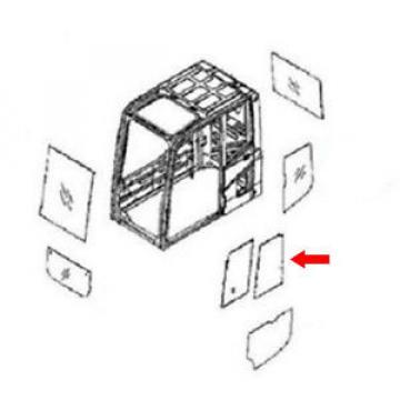 20Y-54-52840 Rear Door Slider Glass Fits Komatsu Excavator PC290NLC-6K PC130-6K