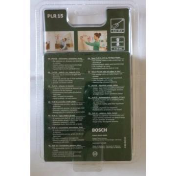 BOSCH PLR 15 Laser Rangefinder, includes 2 x AAA Batteries (3165140727754)