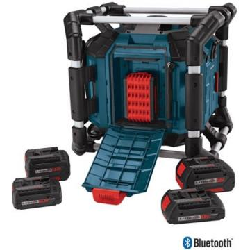 New Water Resistant Cordless Bluetooth Capability Jobsite Radio 18v Job Site