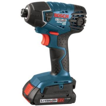 Cordless 18 Volt Lithium Ion 1/4 In Impact Driver Kit (2) 2.0 Ah Batt Power Tool