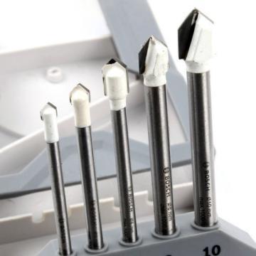 New Bosch CYL-9 Ceramic Tile Drill Bit Set 5Piece Glass Tools Accessories Bits