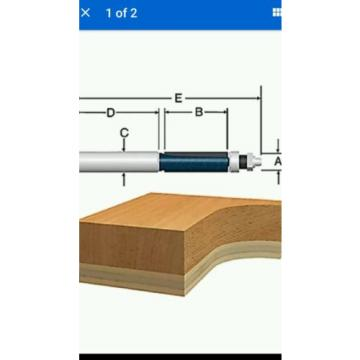 Bosch 85601MC - 1/2 In. Double Flute Template Trimming Router Bit