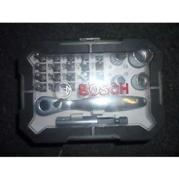 Bosch 2607017322 Screwdriver Bit and Ratchet Set (26-Piece)