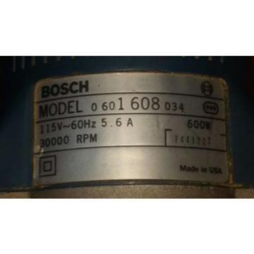 Bosch 1608 Router Laminate Trimmer Tool Corded Electric working 30,000 rpm trim