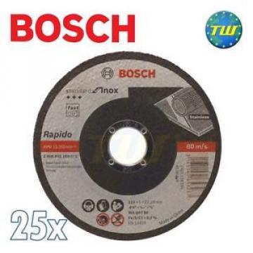 25x Bosch Standard INOX 1mm x 115mm Stainless Steel Metal Thin Cut Cutting Disc