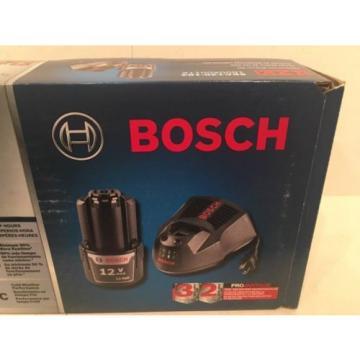 NEW BOSCH SKC120-102 12-VOLT MAX STARTER KIT 2.0AH HIGH CAPACITY BATTERY & CHARG