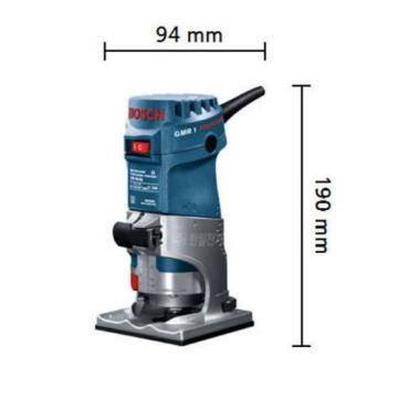 BOSCH GMR1 Trimmer Professional Palm Router Kit Colt Single-Speed Fixed