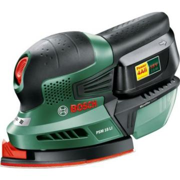 Bosch PSM 18 LI Cordless Lithium-Ion Multi-Sander (1 x 18 V Battery, 2.0 Ah)