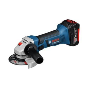 Bosch Professional GWS 18 V-LI Cordless Angle Grinder with Two 18 V 4.0 Ah
