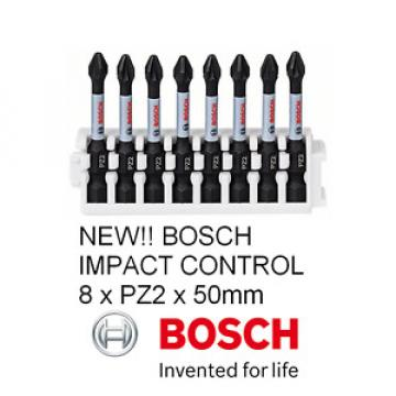 NEW!! Bosch Impact Control Screwdriver Bit 50mm, 8 x PZ 2 NEW RANGE !!!!