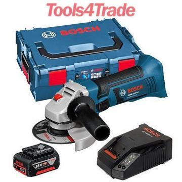 Bosch 18v GWS18 V-LI Cordless Angle Grinder + 1 x 4.0Ah Battery + Charger