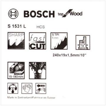 Bosch S1531L reciprocating saw blades shark sabre wood pruning recipro Pack of 5