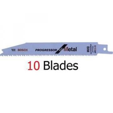 10 x Genuine BOSCH S123XF Sabre Saw Blades for Metal BIM 2608654402 - 1410