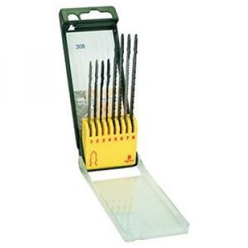 Bosch 2607019458 Set 8 Lame Seghetto Alternativo Legno Metallo Plastica, Attacco