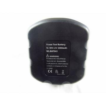 3Ah 12V Battery for Bosch 2 607 335 709 Suitable for 2609200306 BAT120 22612