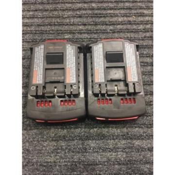 X2 Bosch 18v Batteries Model Numbers BAT610G & BAT 612 41042-1, 42517-2