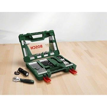 Bosch Drill Bit and Screwdriver Bit Accessory Set Led Torch Adjustable Spanner