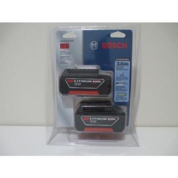 Bosch BAT619G 18V 3.0Ah Lithium-Ion FatPack Battery (2 Pack)