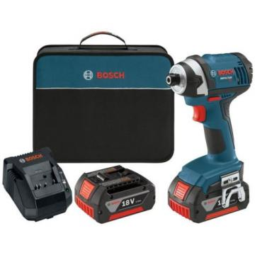 Bosch Impact Driver Cordless 18 Volt Lithium-Ion 1/4 in. Hex 4.0Ah Batteries