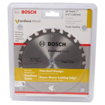 Bosch Cordless Wood Circular Saw Blades 165mm - 18T, 24T or 40T