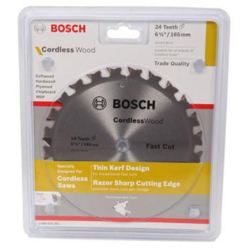 Bosch Cordless Wood Circular Saw Blades 165mm - 18T, 24T or 40T
