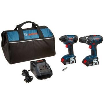 "Bosch CLPK232-181 18V 2-Tool Combo Kit (1/2"" Compact Tough Drill/Driver & Impa"