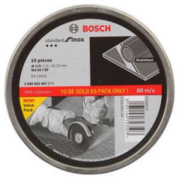 Bosch Inox Cutting Discs 115x1x22.23mm 10pc