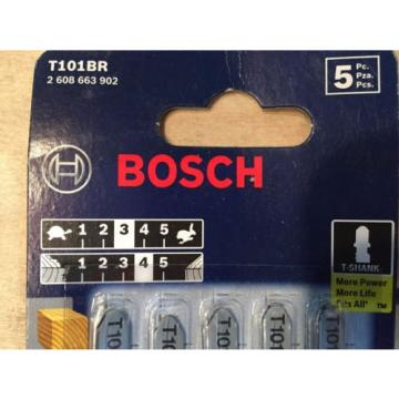 Bosch 10 TPI T-Shank 5 Piece JigSaw Blades T101BR