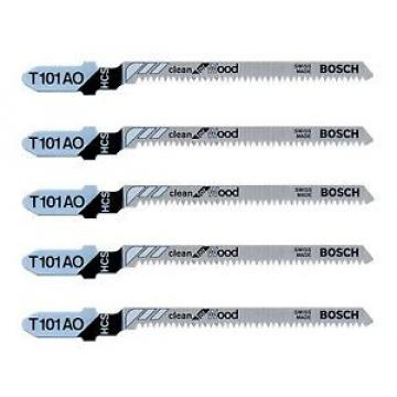 Bosch T101AO Hard Wood Jigsaw Blades Pack of 5 Designed for Wood
