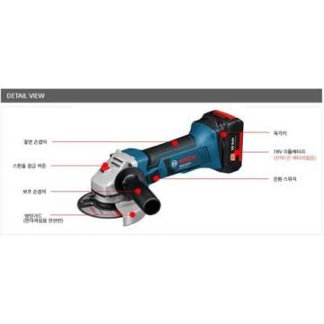 Authentic Bosch Small Cordless Angle Grinder GWS18V-LI Professional Solo Version