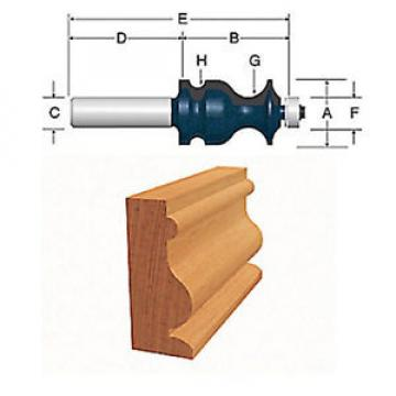 BOSCH 84621M Ogee & Bead With Fillet Router Bit - NEW