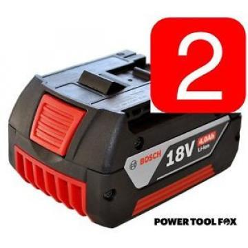 2 x Bosch - 18v 4.0ah Li-ION Batteries (COOL PACK) 2607336815 1600Z00038 1386.